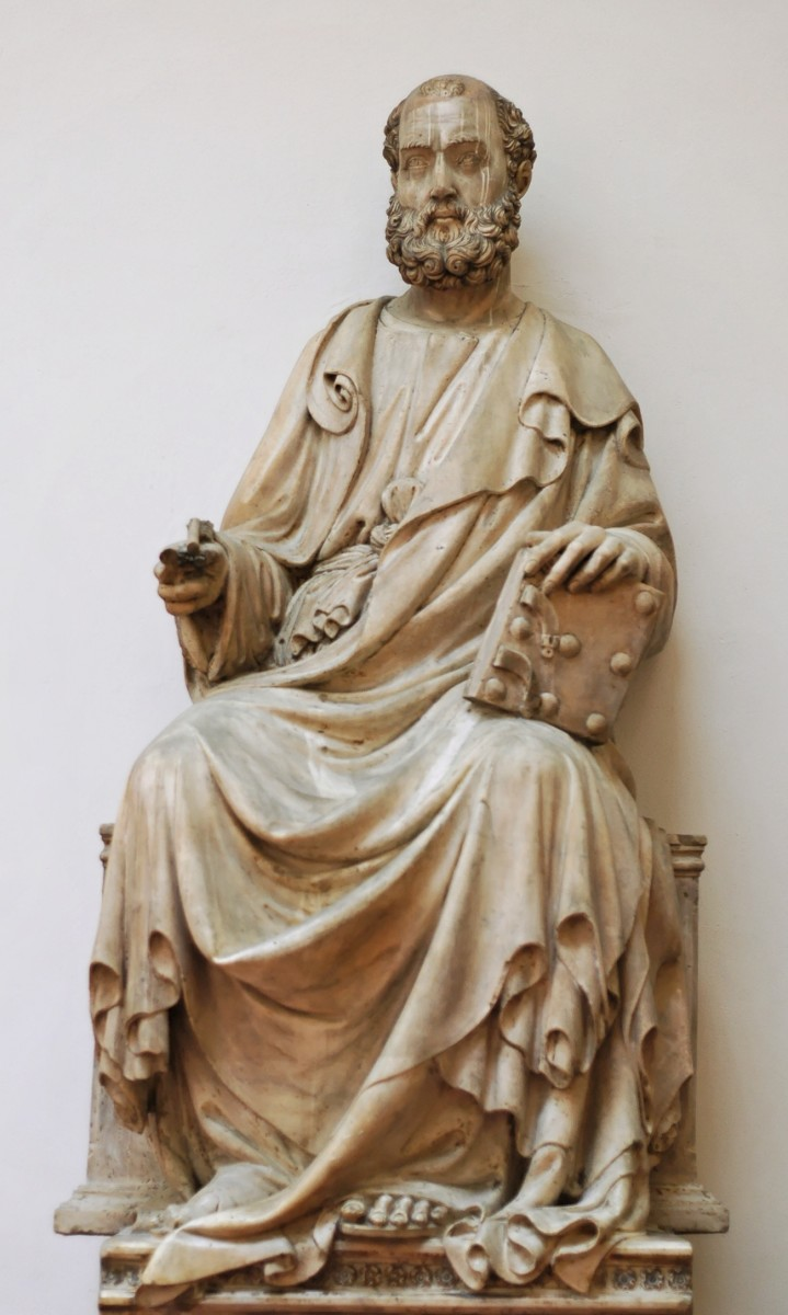 The sculpture of St. Mark by Lamberti commissioned for the Florence Cathedral facade.