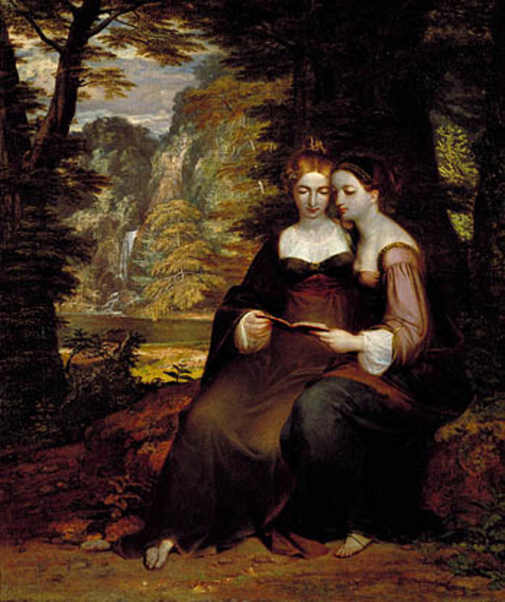 Hermia and Helena by Washington Allston, 1818