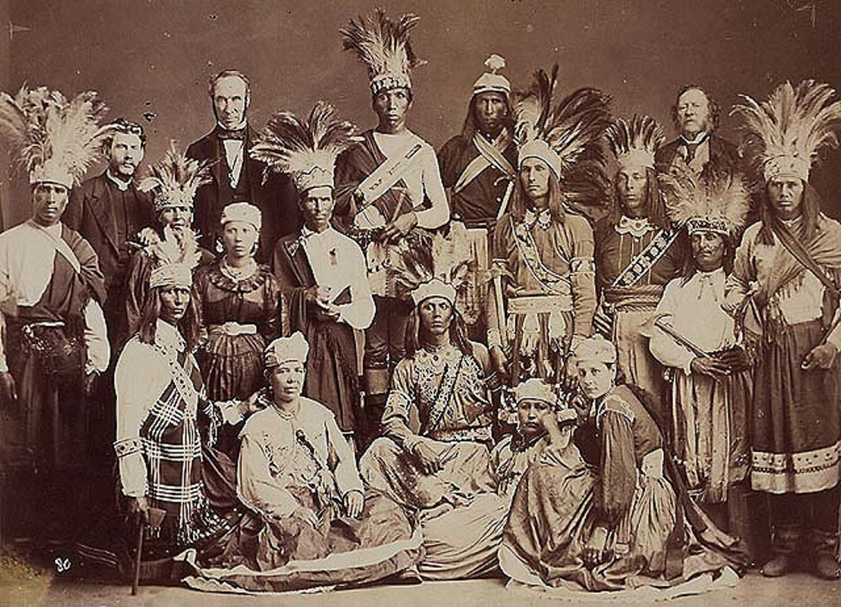 Dancers from the Mohawk Nation at Kahnawake in 1869.