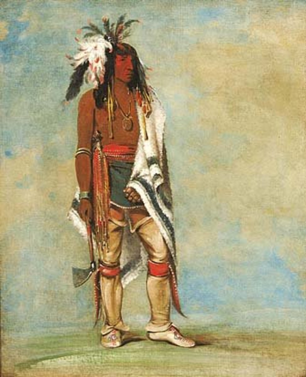 Nót-to-way, a Chief, circa 1835. Iroquois/Haudensaunee (People of the Longhouse)