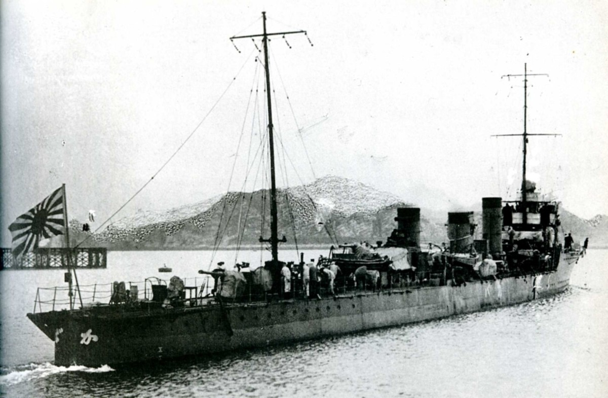 World War One: Japanese Kaba-class destroyer like those used in the Mediterranean.
