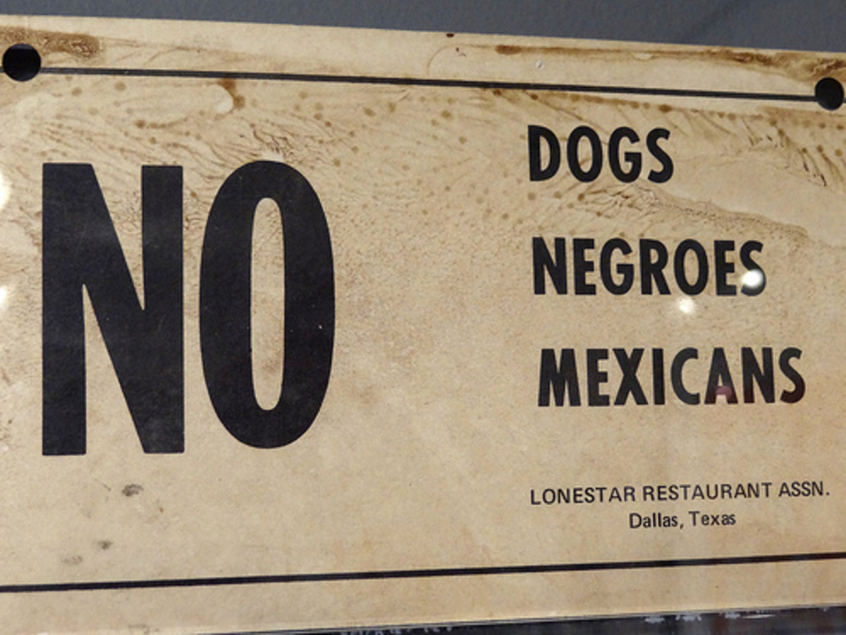 A racist sign in the South is on display at the National Civil Rights Museum in Memphis.