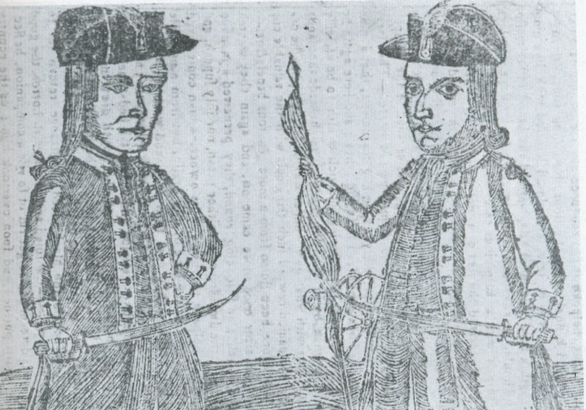 Danial Shays and Job Shattuck, two of the conspirators in the rebellion that bears Shays' name.