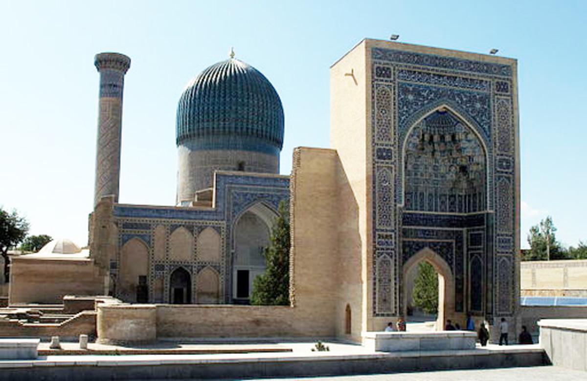 Tamerlane's tomb in Samarkand.
