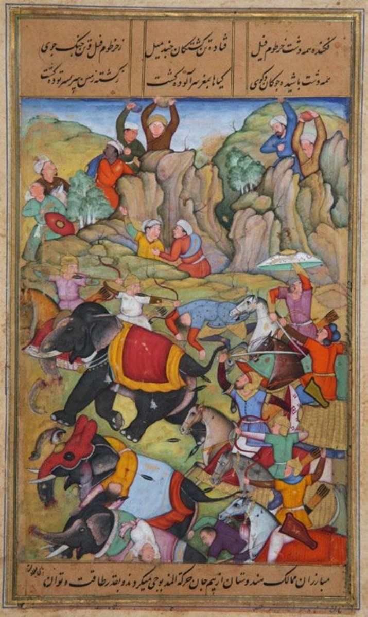 Timur defeats the Sultan of Delhi.