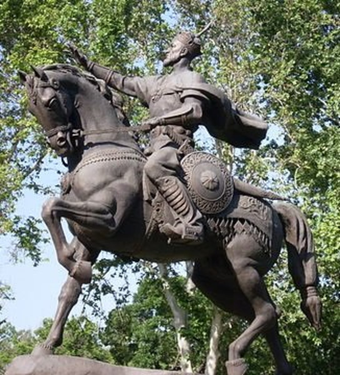 A statue of Tamerlane in Uzbekistan.