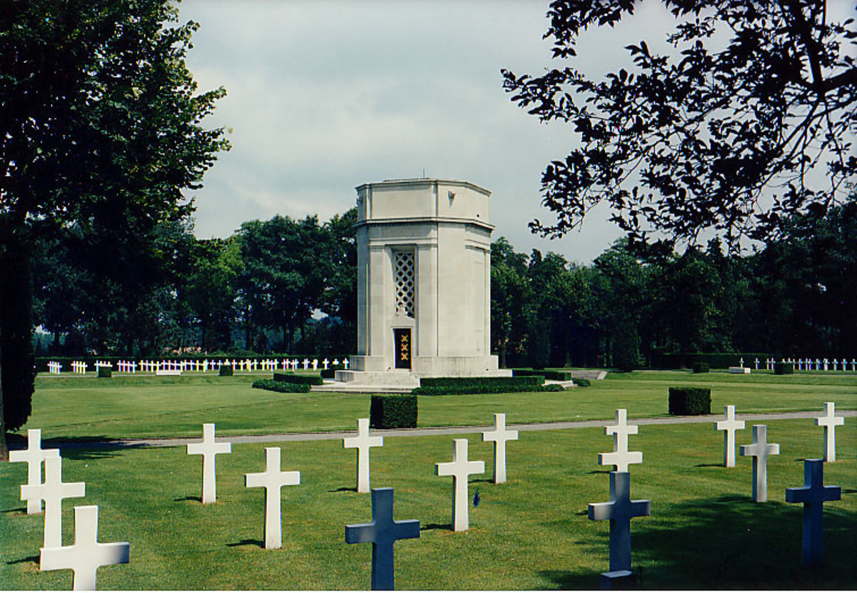 "Flanders Field American War Memorial and cemetery, ""Lest We Remember Them"""