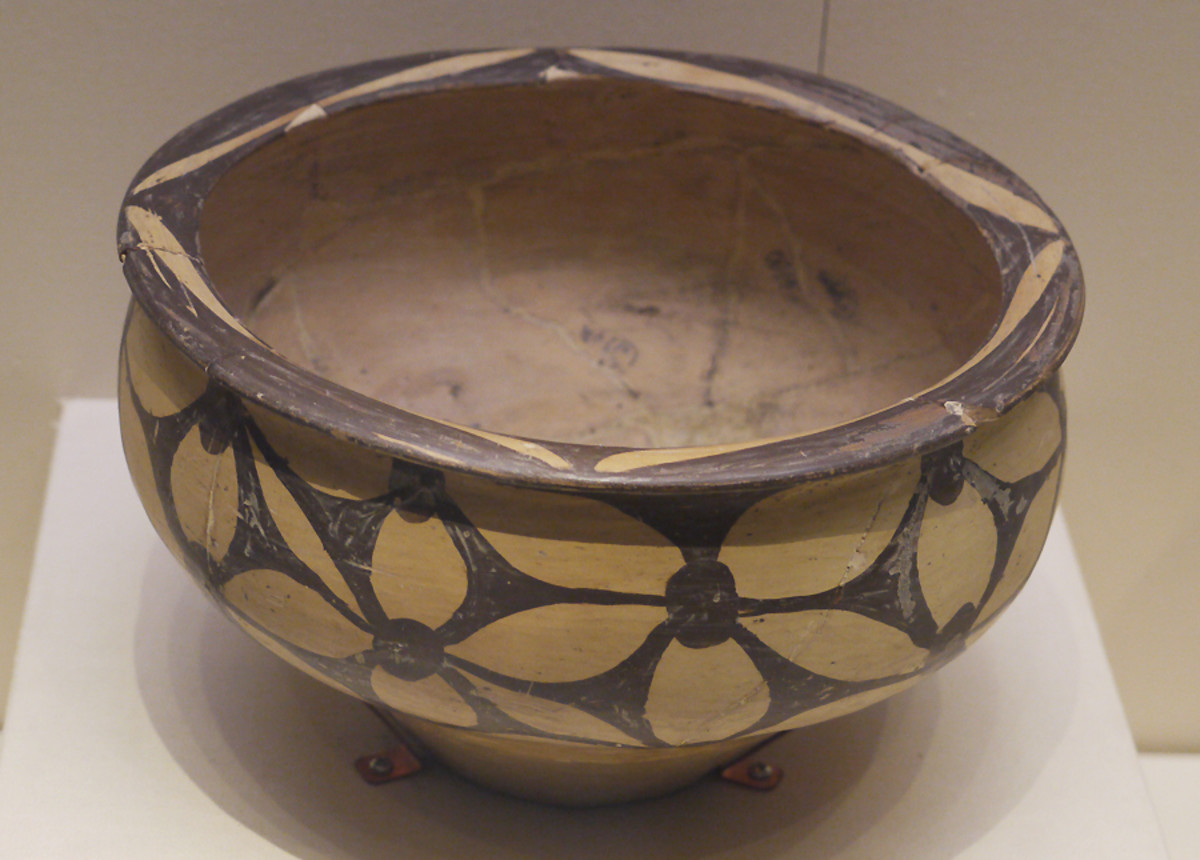 Painted Pottery Basin, Yangshao Culture (c. 5000-3000 BC), Unearthed at Miaodigou, Shaanxian, Henan Province, 1956
