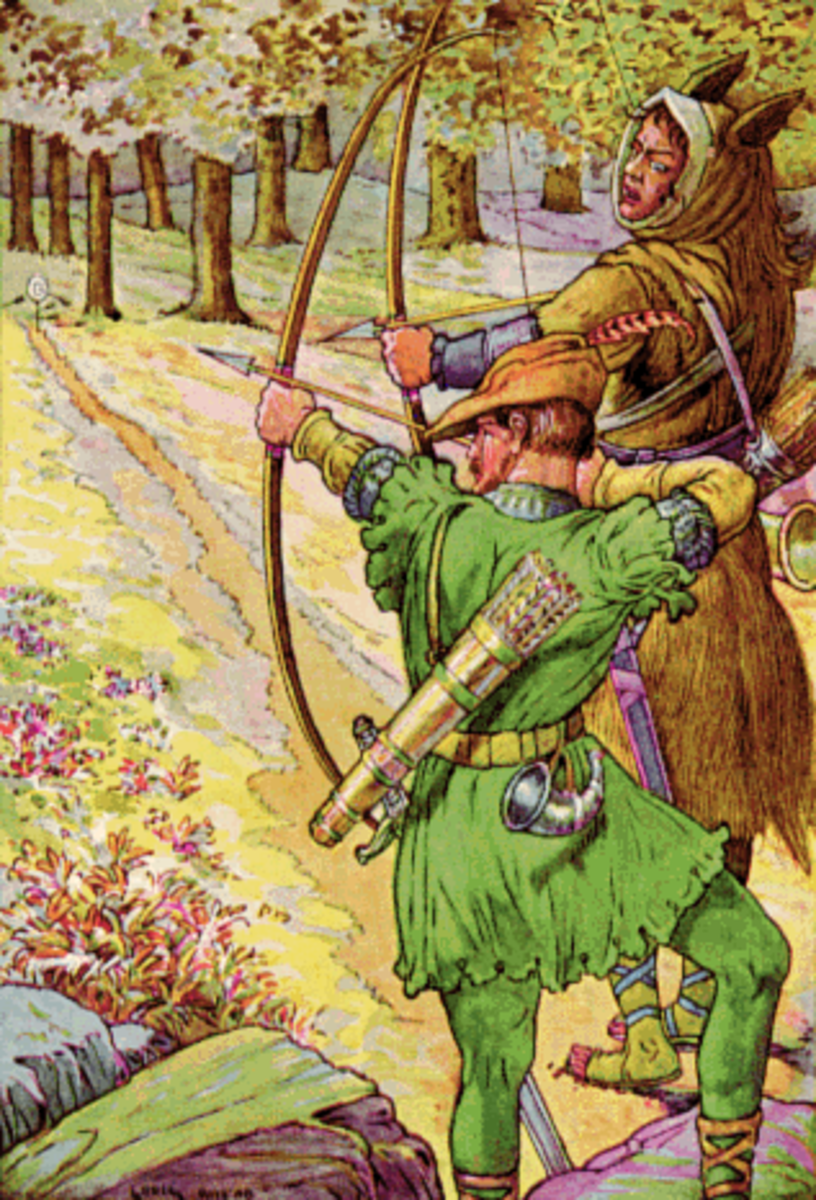 Historically Robin Hood stole from the rich and gave to the poor. Ironically in English pantomime his character is played by a female actress.