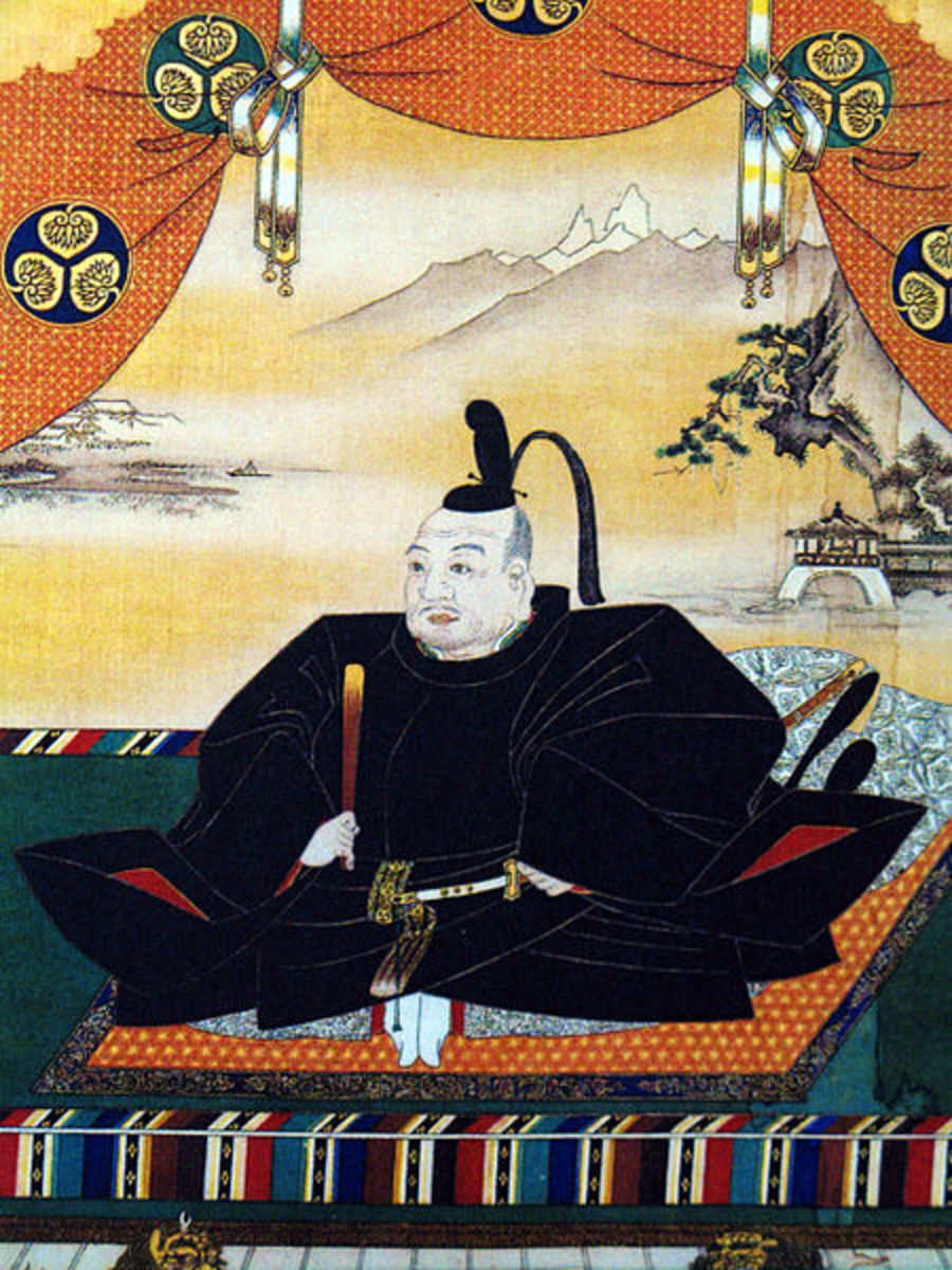 A portrait of Tokugawa Ieyasu, the first Tokugawa Shogun. His bakufu would hold true power in Japan for 250 years.