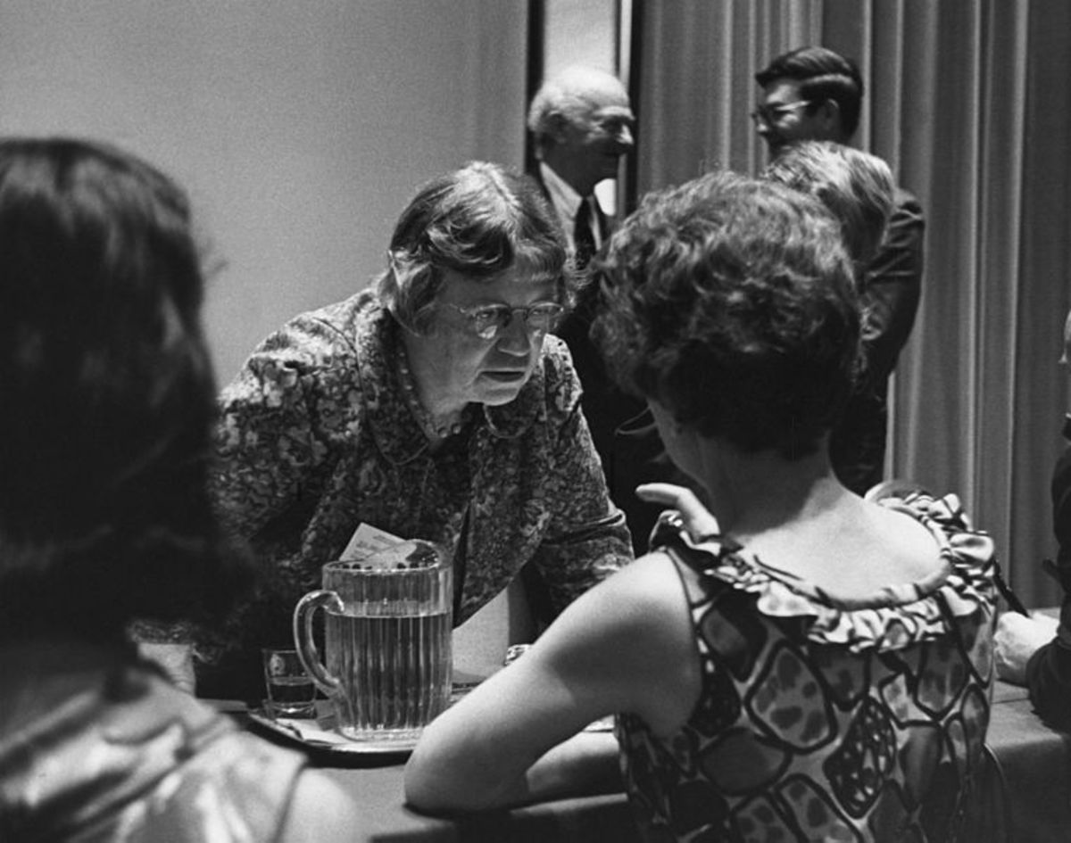Margaret Mead at the New York Academy of Sciences in June 1968