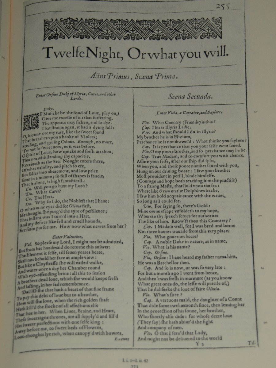 Title page from First Folio.
