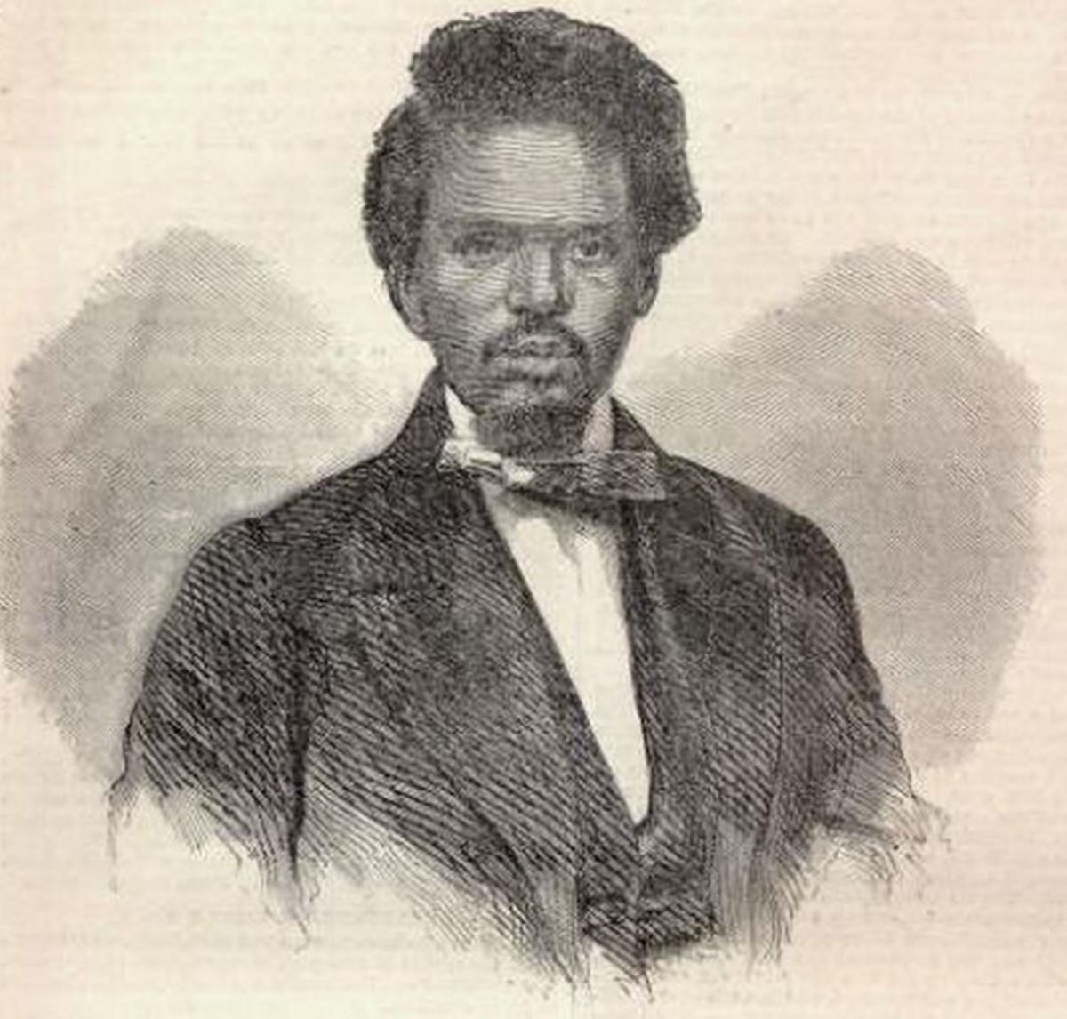 Robert Smalls at the time he captured the Planter. From an engraving published in Harper's Weekly, June 14, 1862