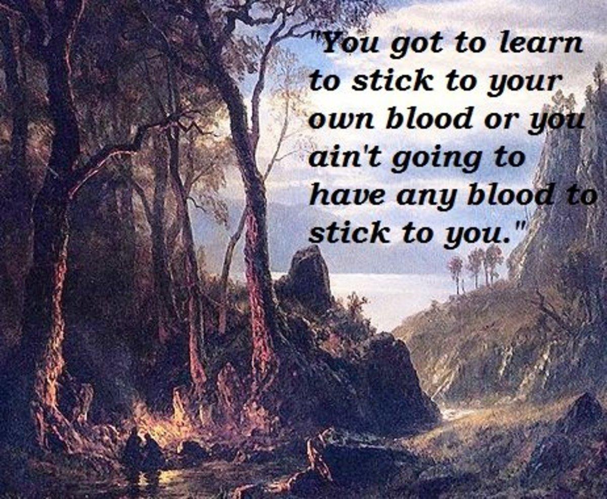 "Quote from William Faulkner's ""Barn Burning"""