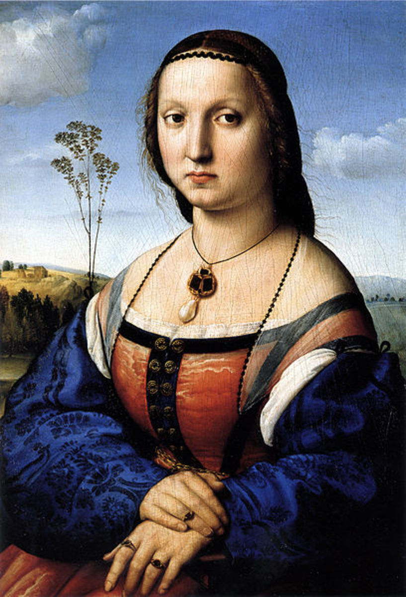 Raphael, Portrait of Maddalena Strozzi (a. 1506), Florence Galleria Palatina