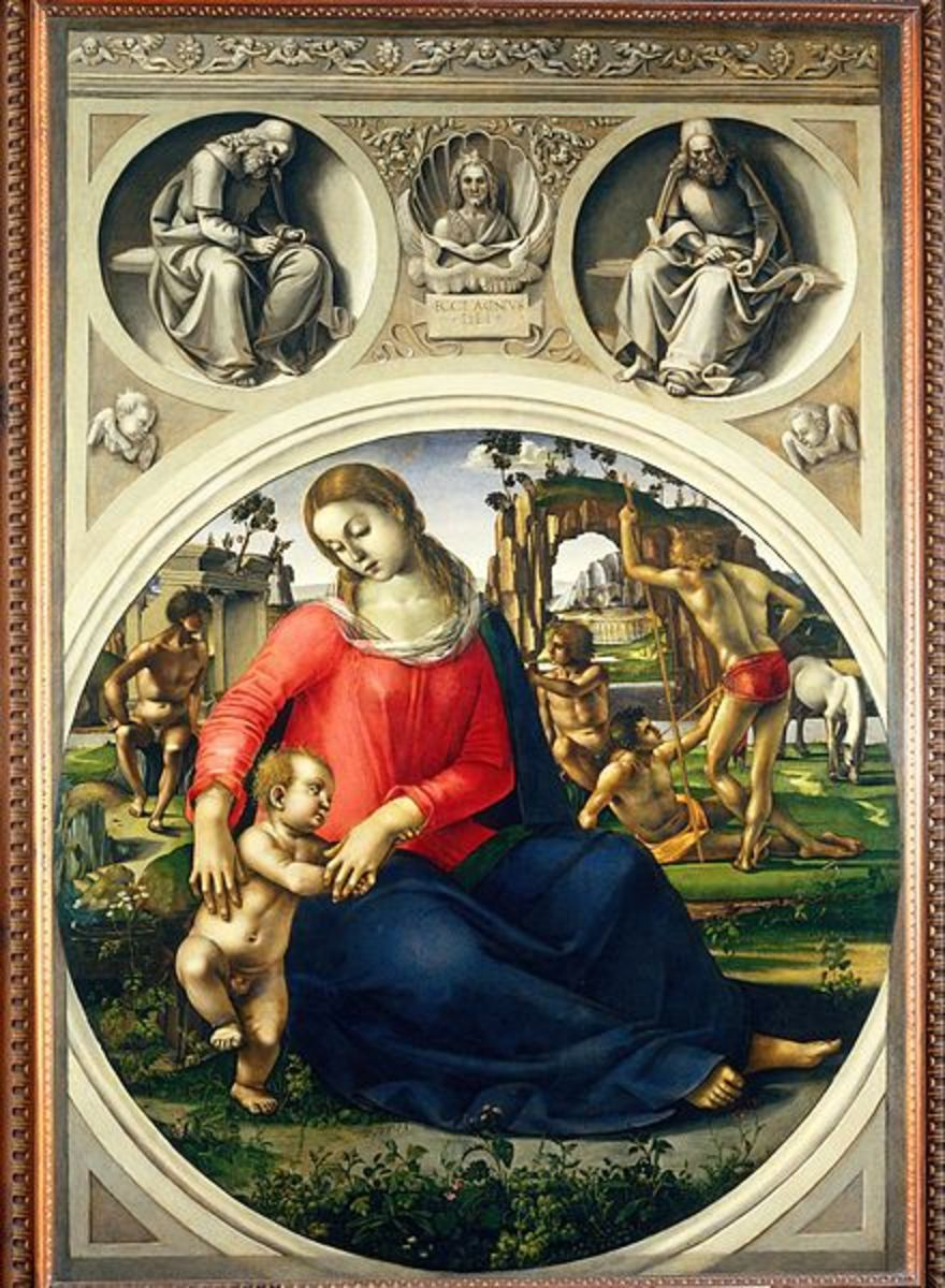 Luca SIgnorelli, Madonna with Child (a. 1490), Florence Uffizi