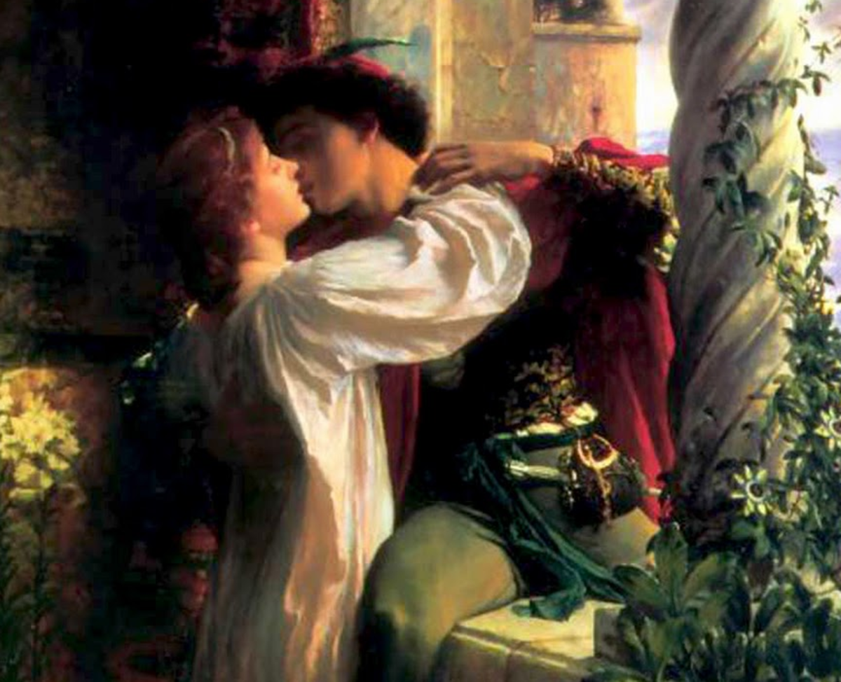 Romeo and Juliet among flowers