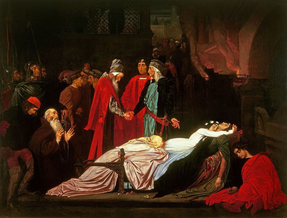 The reconciliation of the Montagues and Capulets