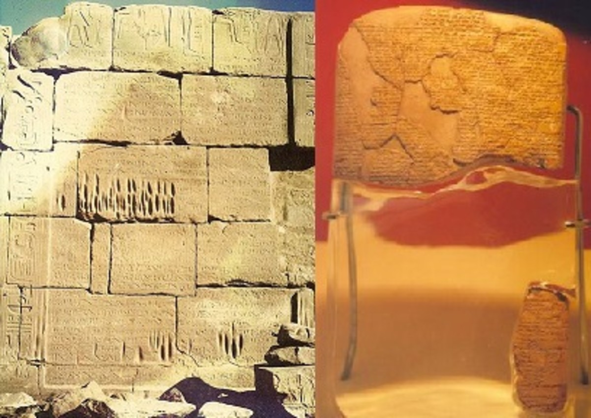 Egyptian-Hittite Peace Treaty in Hieroglyphics and Cuneiform