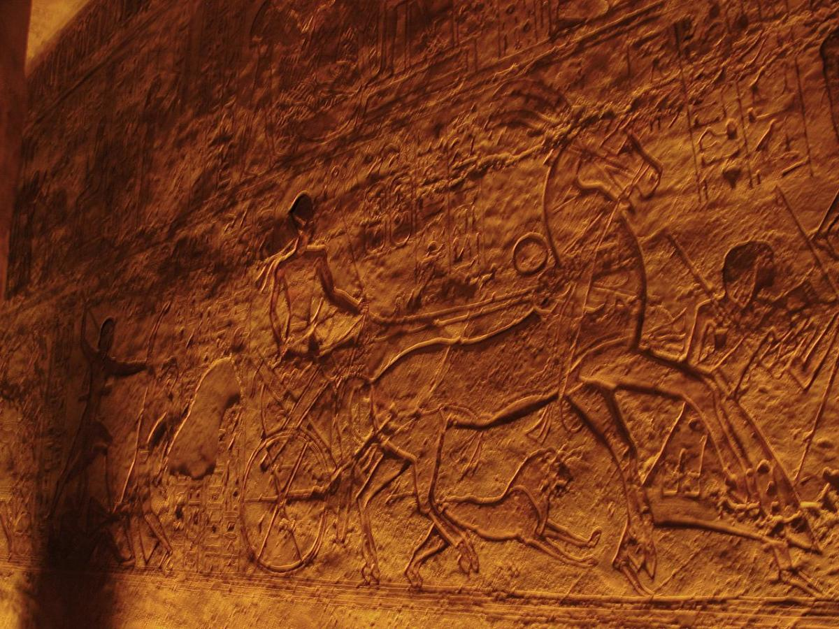Depiction of the Battle of Kadesh at Abu Simbel