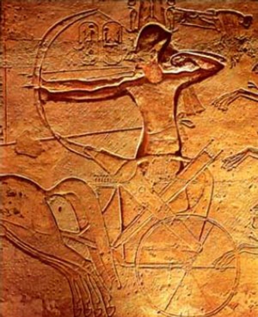 Ramesses II at Kadesh from his temple at Abu Simbel