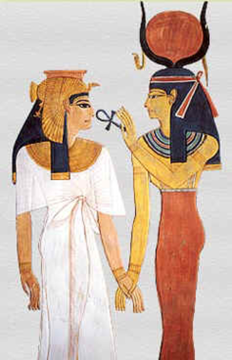 Nefertari with the Goddess Isis from QV66