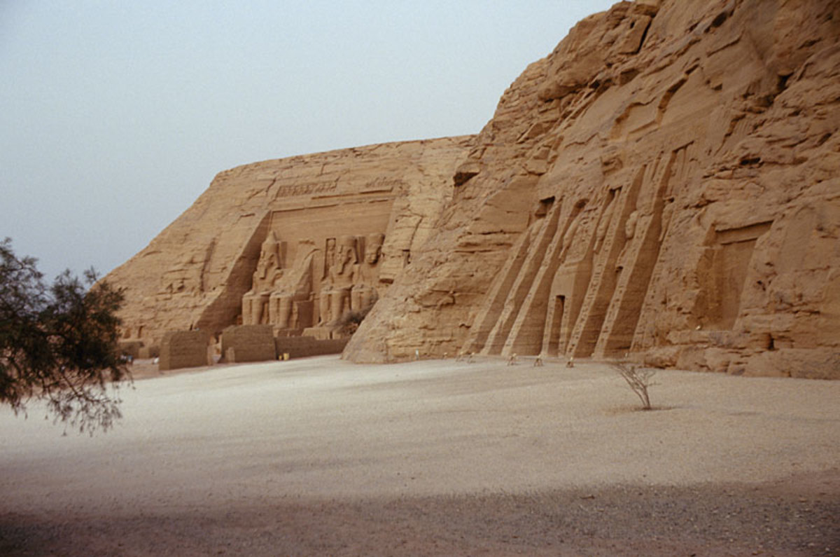 Both Ramesses II (far) and Nefertari (near) Temples at Abu Simbel
