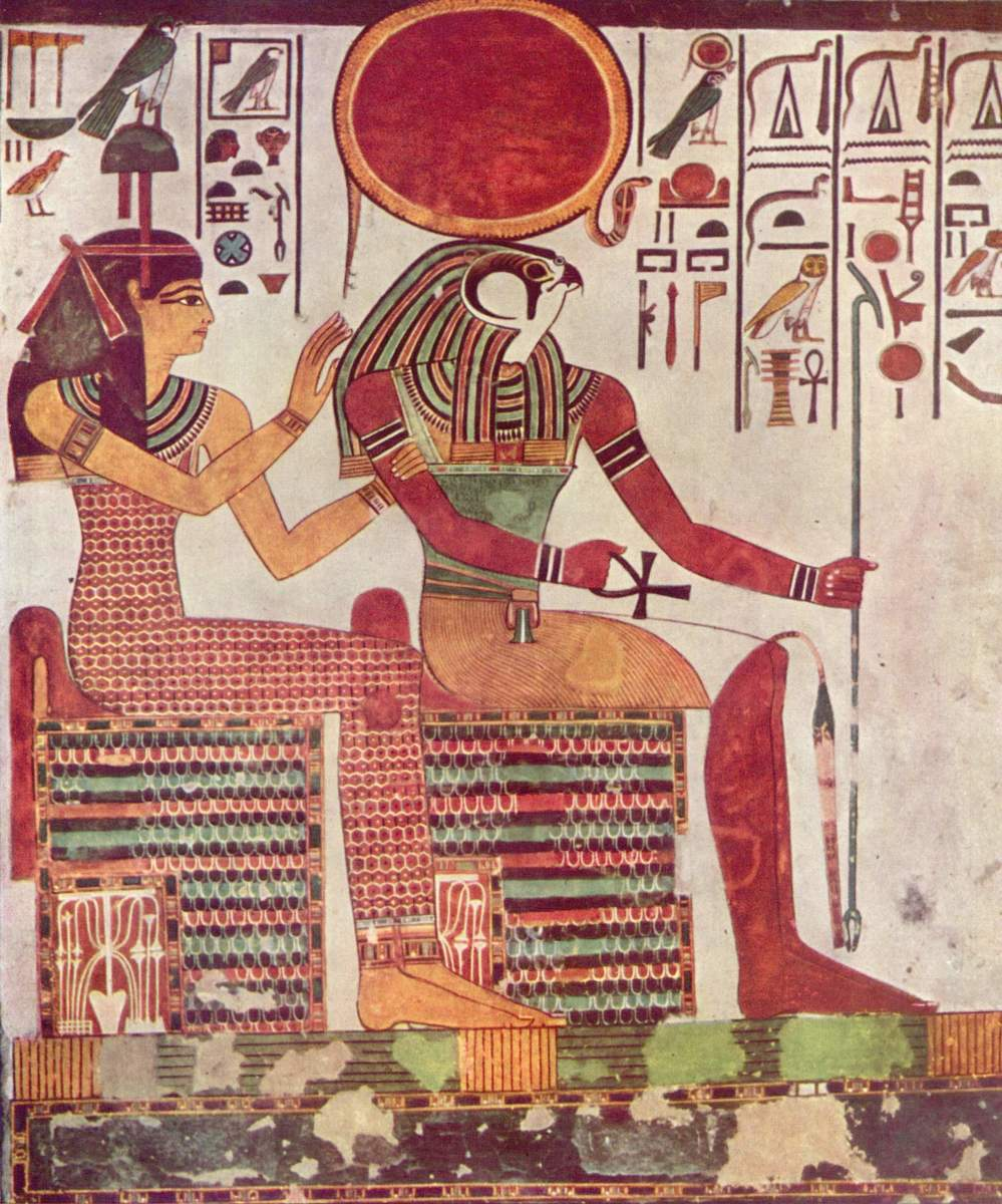 Nefertari and Ra from QV66