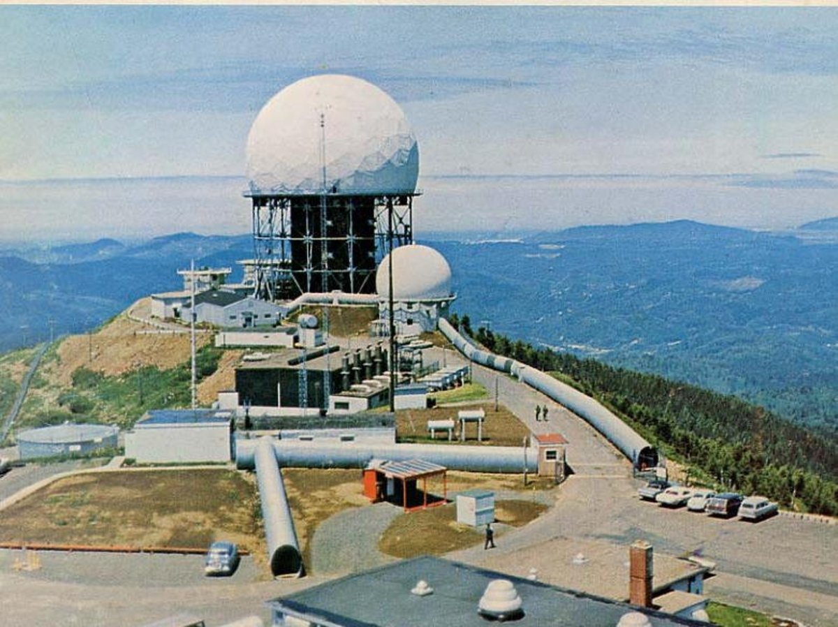 Mt. Hebo AFS, OR with the FPS-24 under  a Radome in 1966.