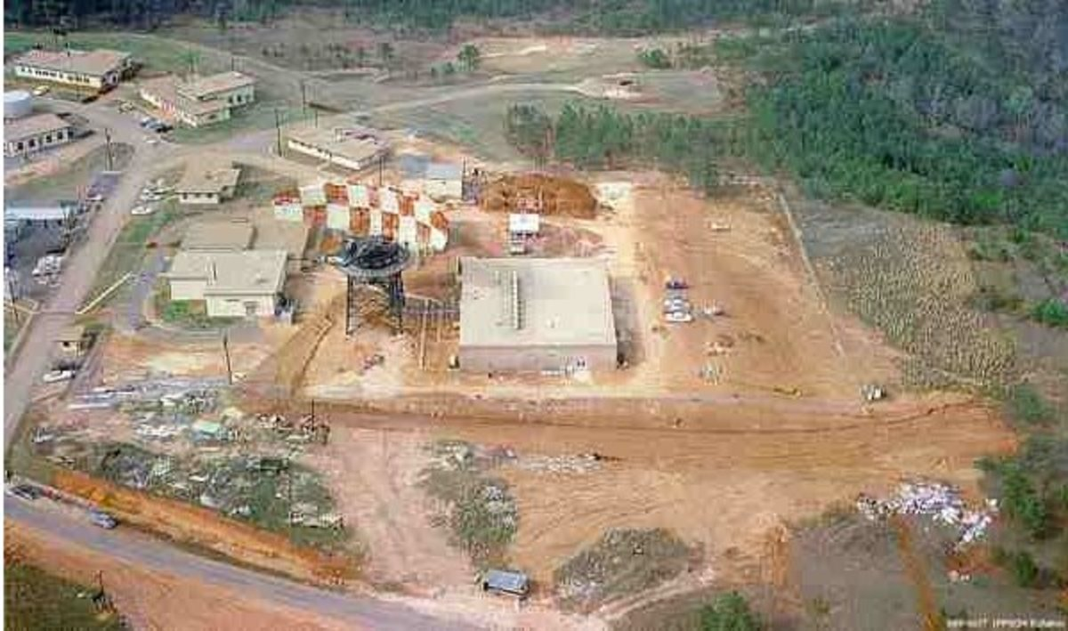 Aerial view of the FPS-24 Radar  Test Site at Eufaula, AL  ca 1960