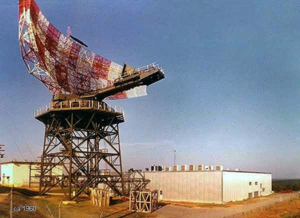 FPS-24 Radar System at Eufaula, AL  (The radar equipment was housed in the building)