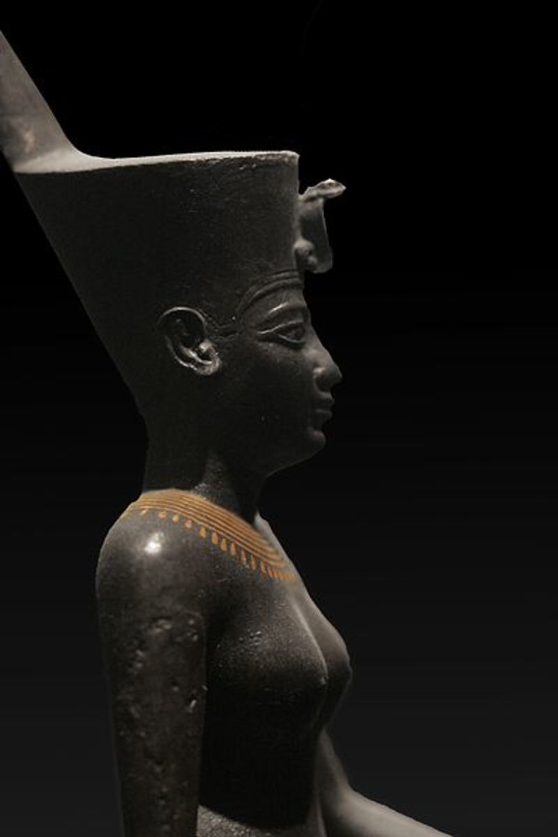 The goddess Neith was associated with war and weaving and was known as the mistress of spiders.