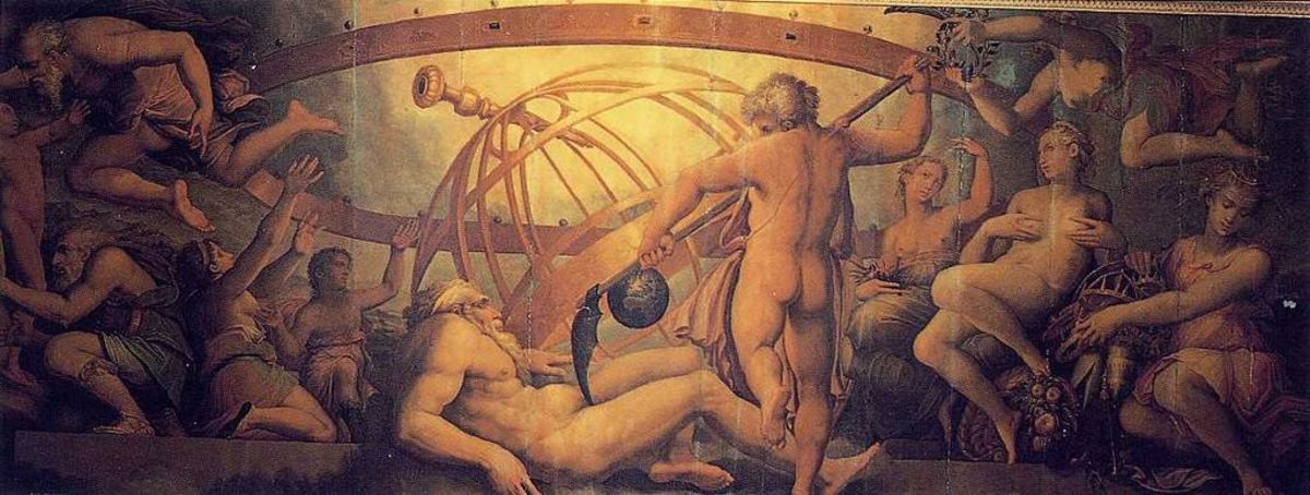 The Mutiliation of Uranus by Saturn - Giorgio Vasari PD-art-100