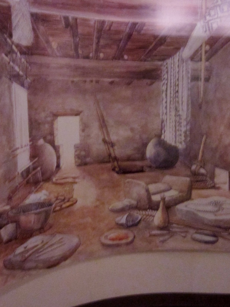 Picture of what a room would have looked like when Sinagua resided at Montezuma Castle