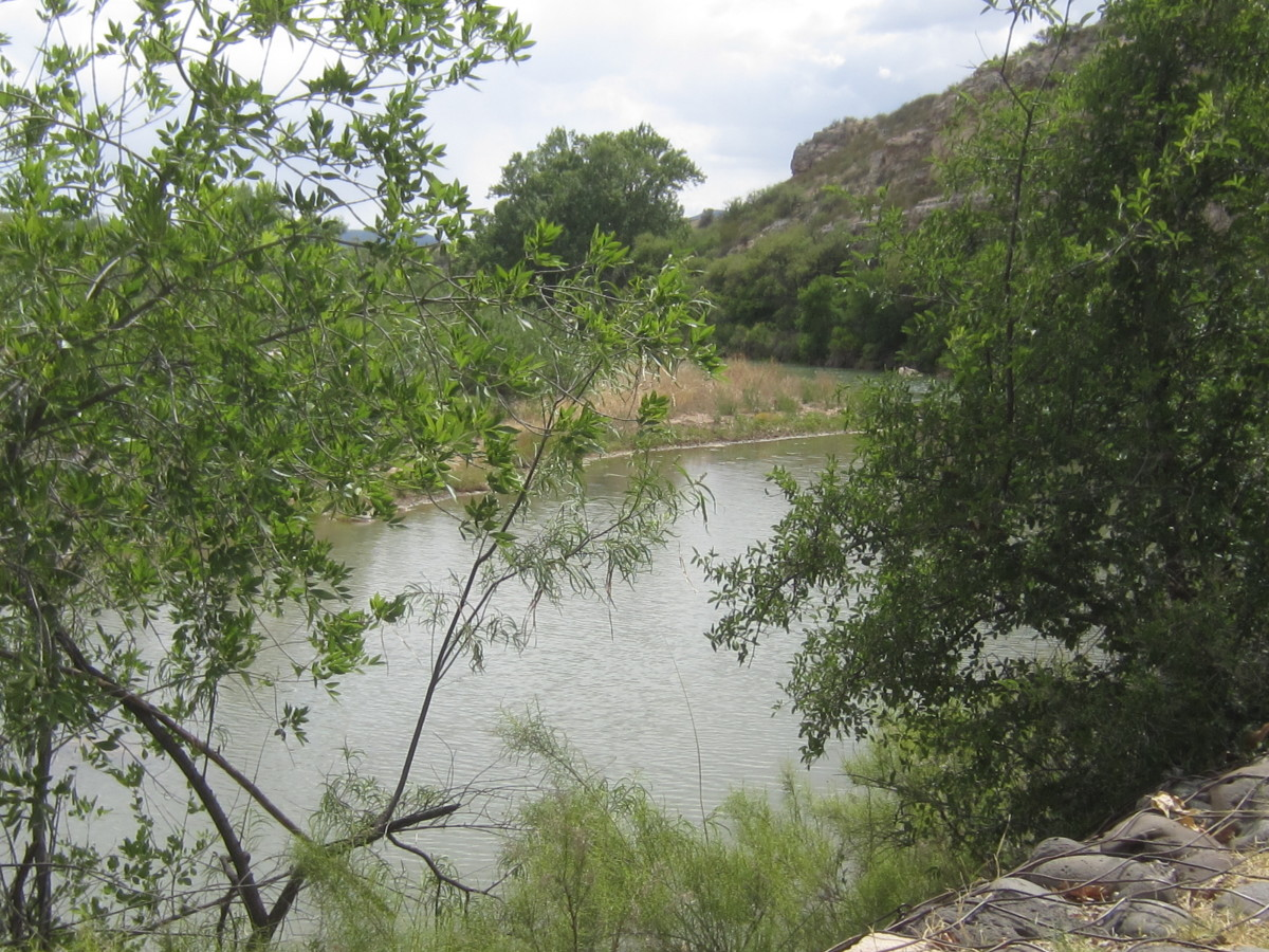 Beaver Creek, which provided water, as it Flows Past Montezuma Castle