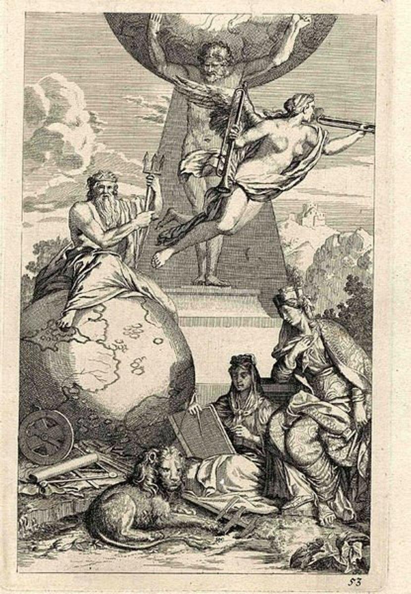 Allegorie, Radierung, um 1700 - Meister J. K. PD-art-100