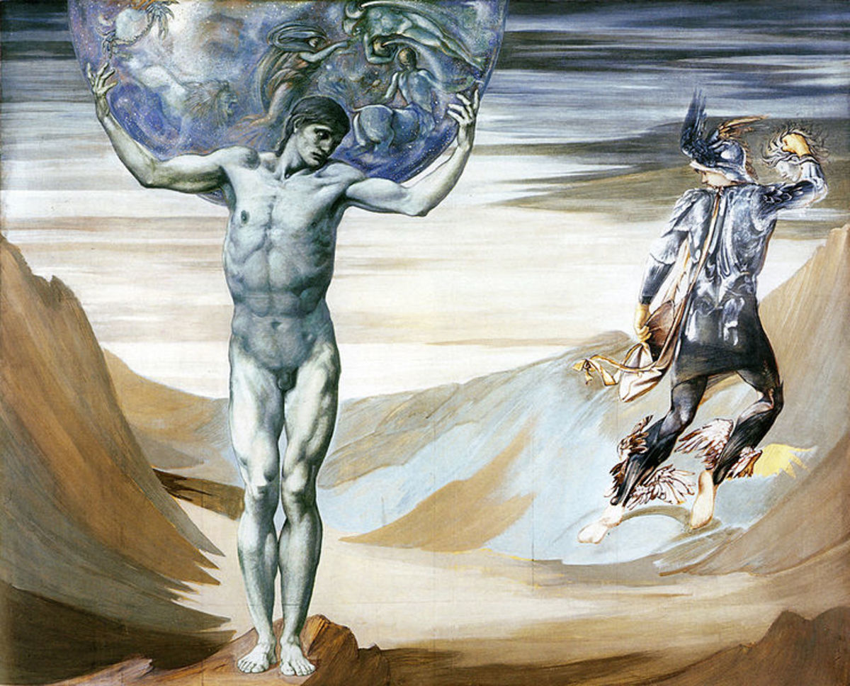 The Perseus Series: Atlas Turned to Stone - Edward Burne-Jones (1833–1898) PD-art-100