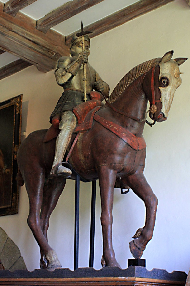 This important lifesize oak and metal statue of King Edward III was sculpted in the late 16th century and is believed to be the first horse statue carved in England
