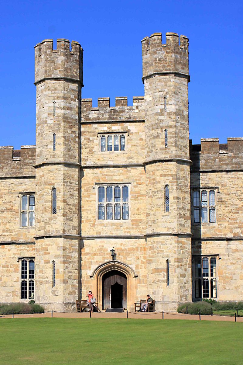 Much of the main castle was rebuilt in the 1820s including this impressive facade, creating the 'New Castle'