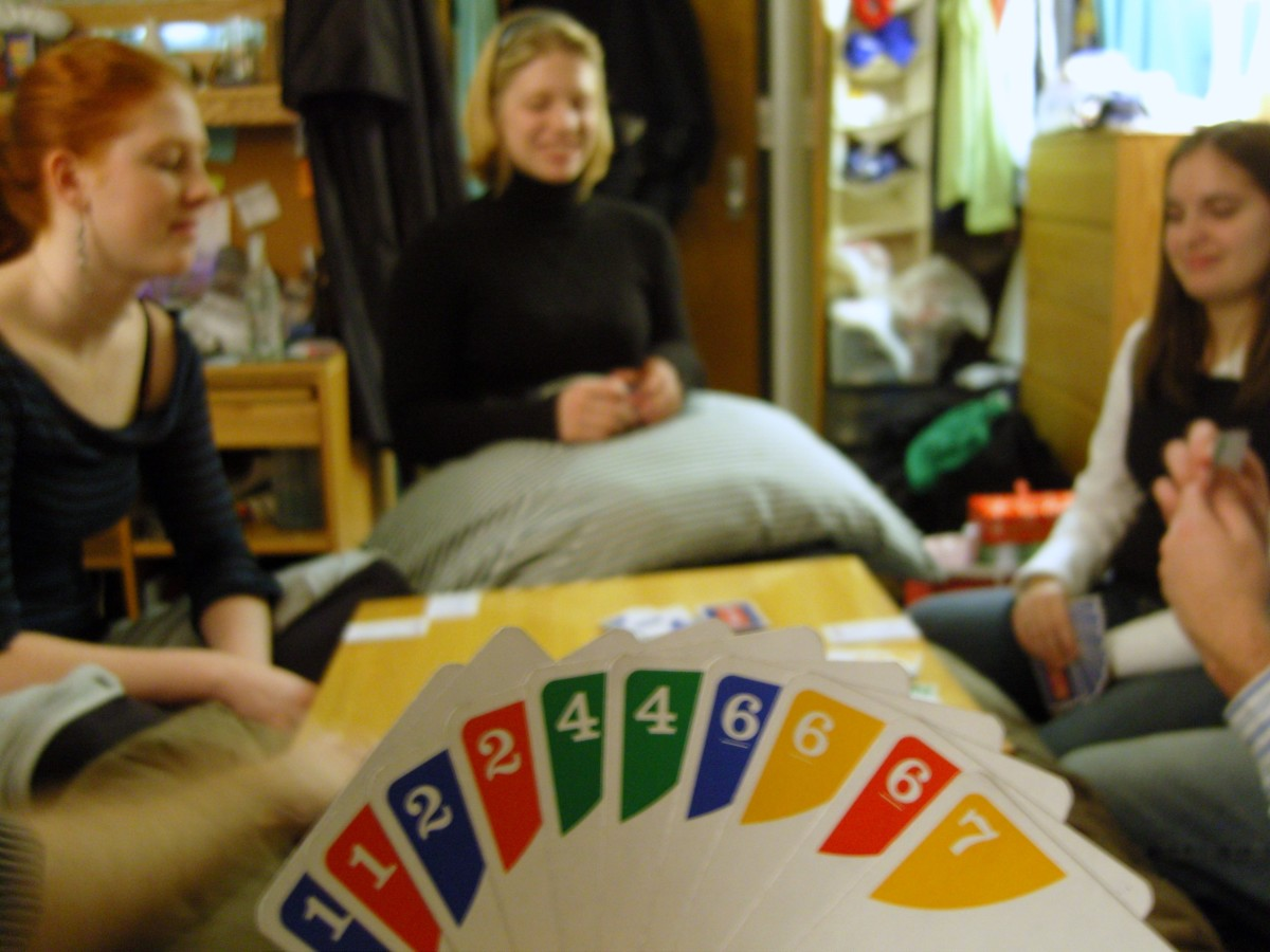 Nothing like a cosy game of Uno!