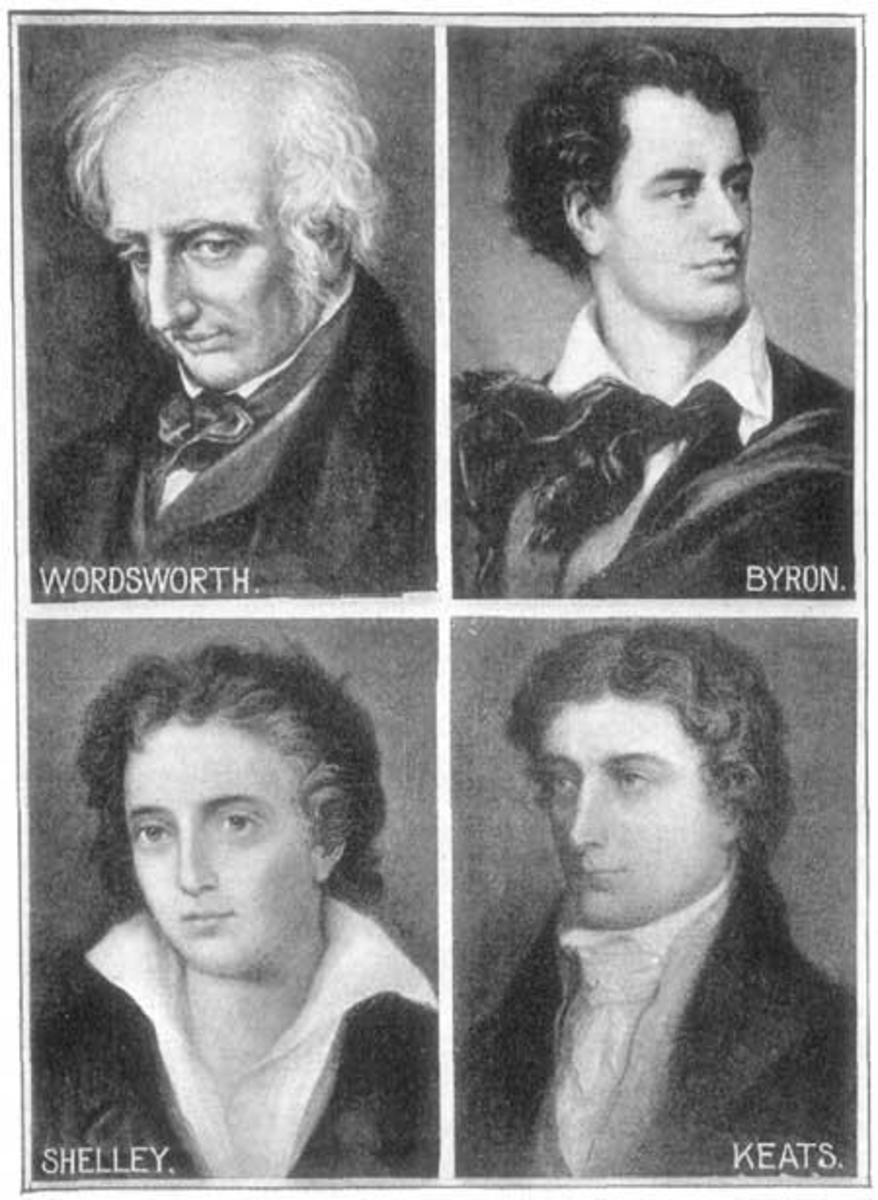 Wordsworth and Shelley were two of the four major Romantic poets.
