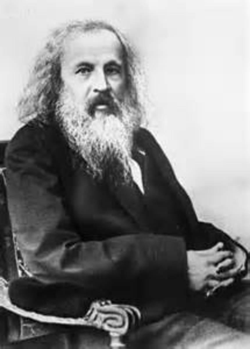 Dmitri Mendeleev arranged in the order of increasing atomic weights with a regular repetition (periodicity) of physical and chemical properties.