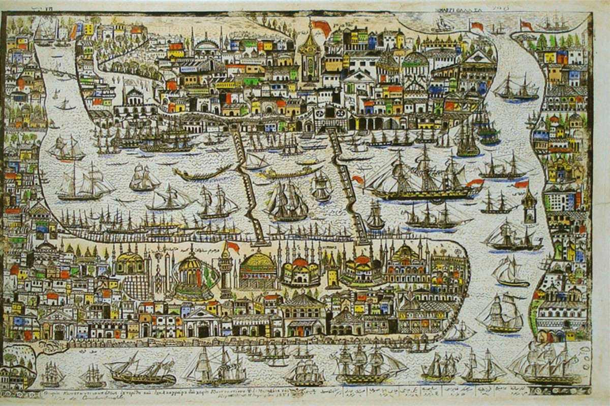 "A depiction of Constantinople, which the Vikings called ""Miklagårde"", meaning Great City."