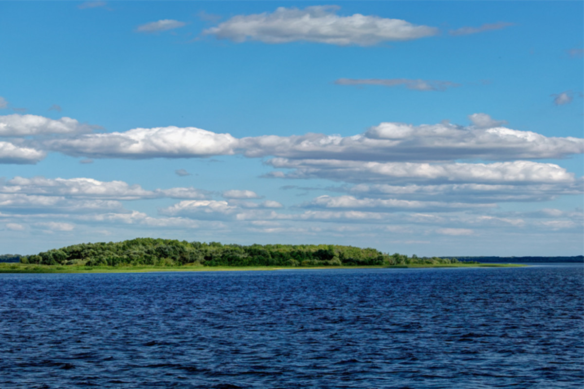 The Volga River was a vital part of the Viking trade route in the East, carrying their longships to the Caspian sea which gave them access to Persia.