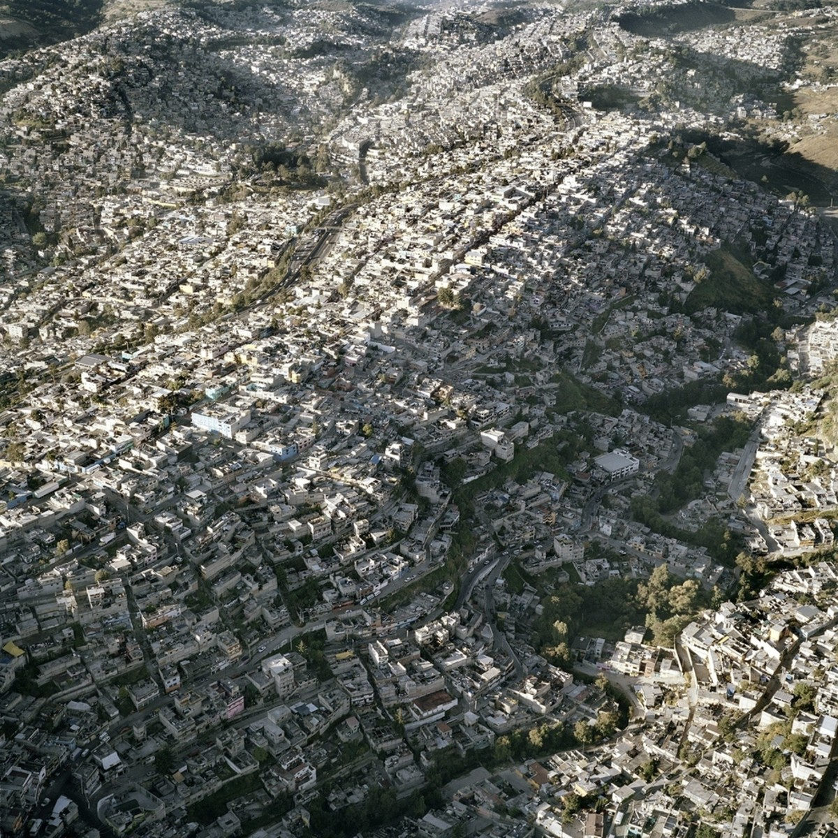 "Left unchecked: Mexican ""suburb"" slums."