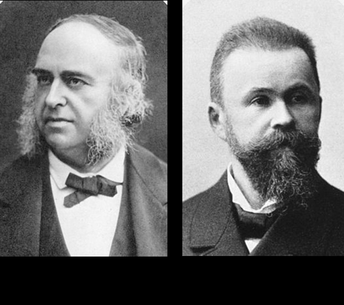 Portraits of Paul Broca and Carl Wernicke