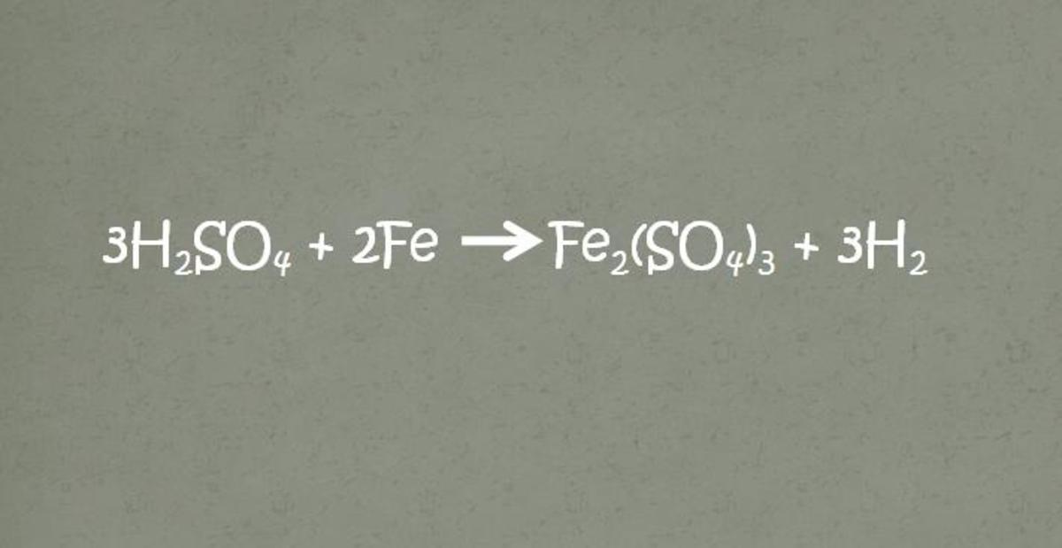 An example of a chemical equation