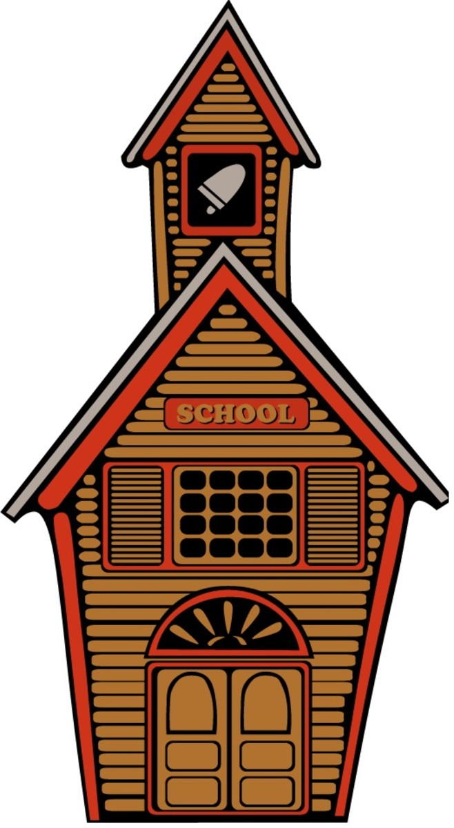 school house (free clip art)