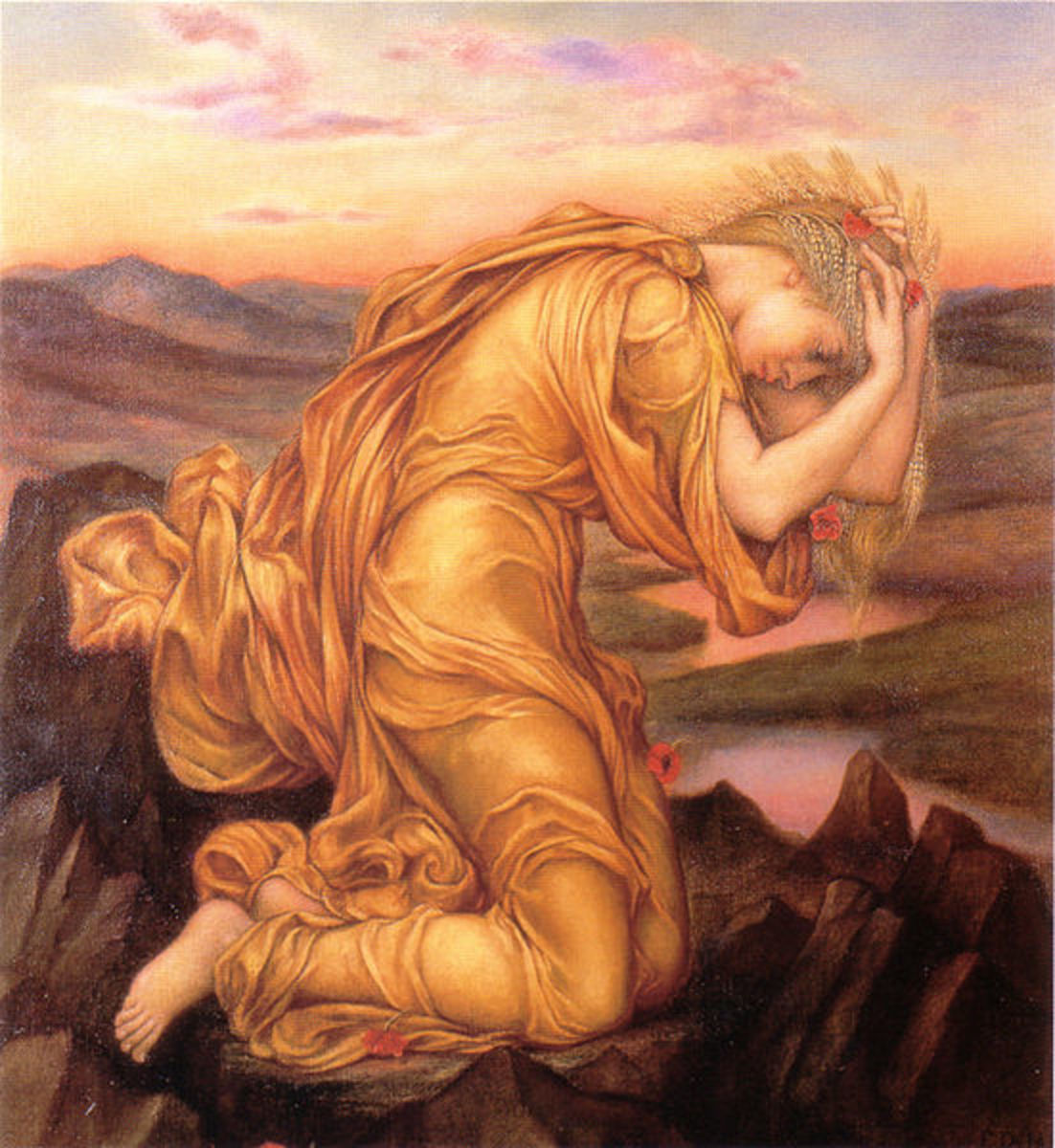 Demeter Mourning Persephone by Evelyn de Morgan, 1906.