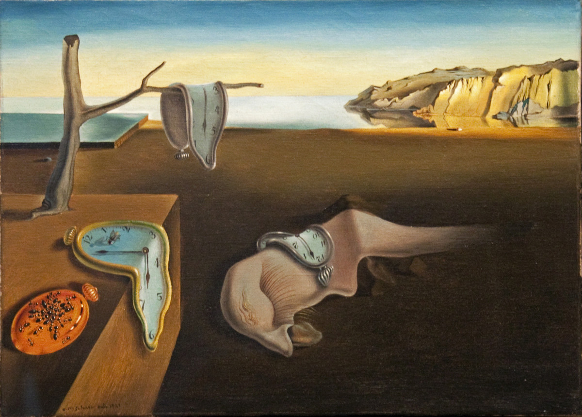 Salvador Dali's most recognizable work that portrays surrealism.